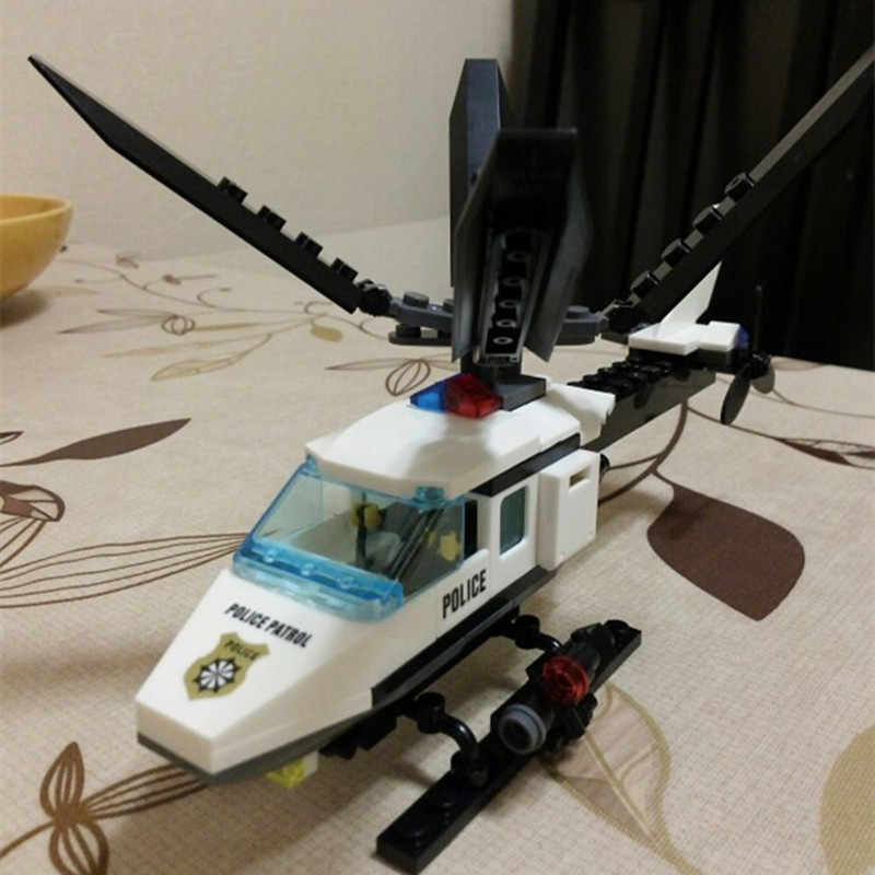 102pcs מטוסי מסוק DIY ערכת אבני בניין לבנים סט מותג צעצועי תואם Legoings מתנות לילדים
