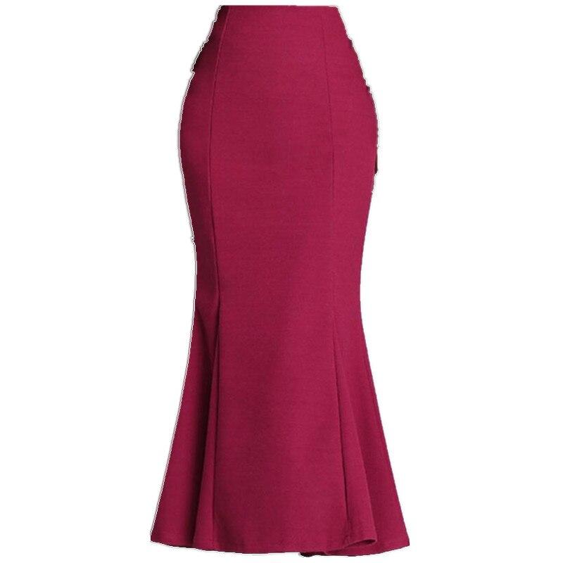 Большие размеры 3XL!2020 зимняя Офисная Женская шерстяная юбка русалки Женская юбка с высокой талией