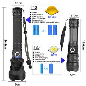 Image 5 - Most Powerful Lamp XHP70.2 Most Powerful Flashlight USB Zoom Led Torch XHP70 XHP50 18650 or 26650 Battery Best Camping, Outdoor