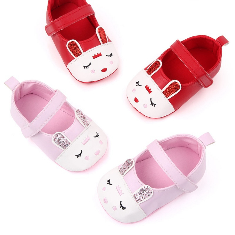 Newborn Toddler Infant Baby Girl Cartoon Rabbit Anti-slip Crib Shoes Cotton Sneaker Bunny First Walkers