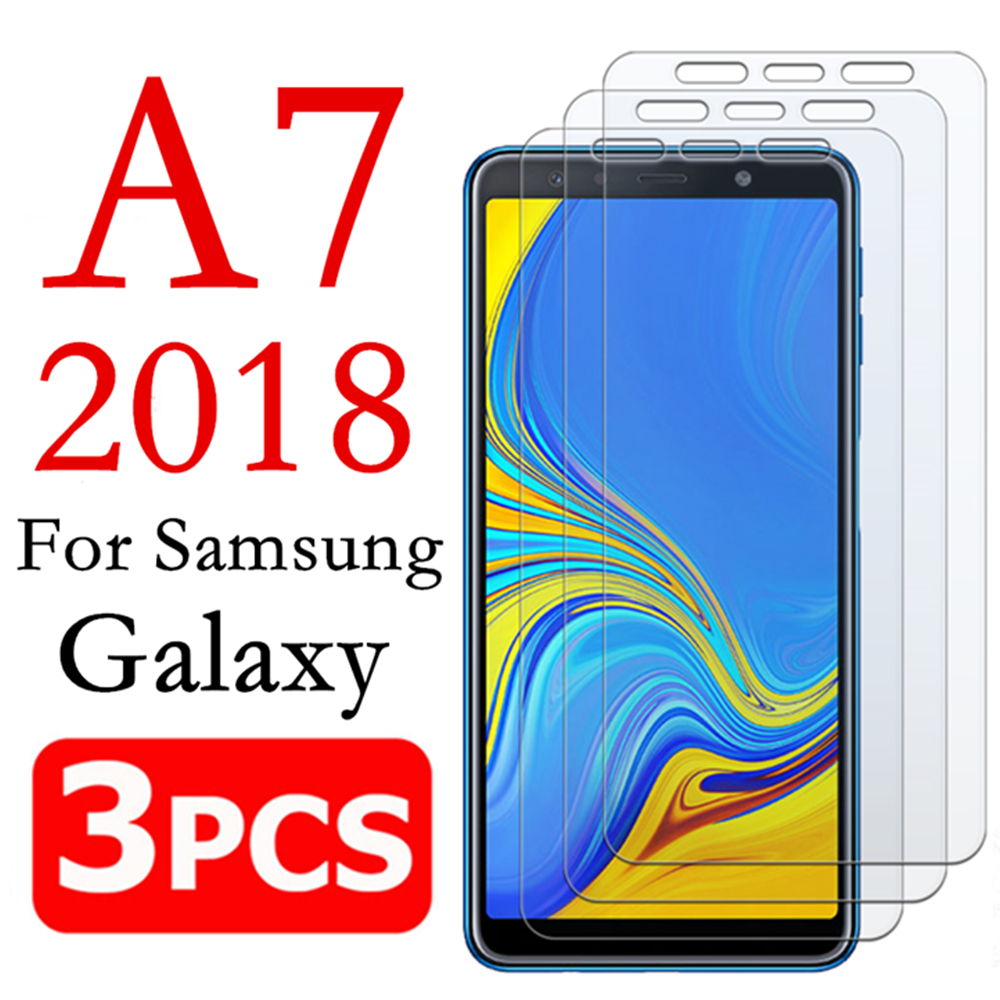 A7 2018 Armored Protective Glass On For Samsung Galaxy A 7 2018 7a Screen Protector Galaxi A72018 Tempered Glas Verre Tremp Film