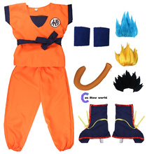 Cosplay-Costumes Holiday-Suits Anime Carnival Adult Son-Goku Kids for Wrister/wig