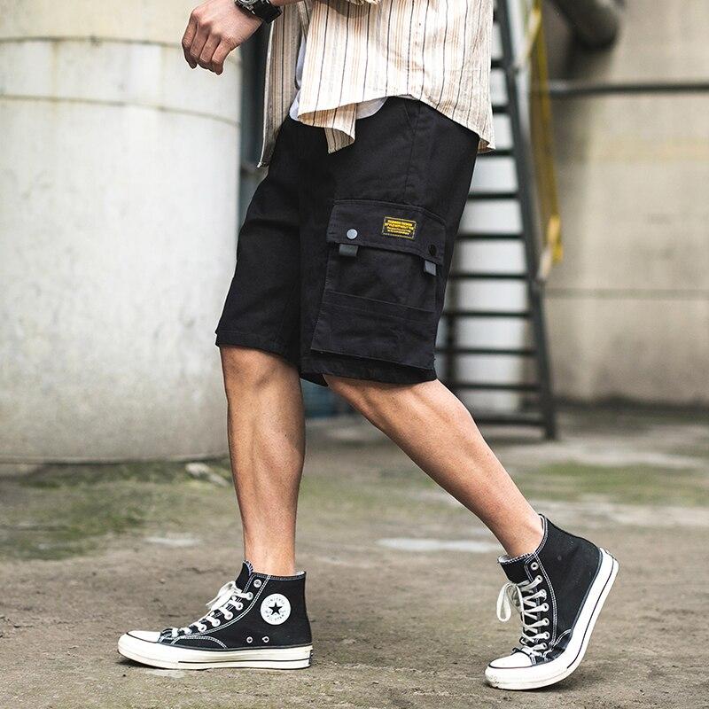 2020 New Men Casual Shorts Summer Straight Pocket Cotton Camo Cargo Shorts Men Men Cothing Streetwear Shorts