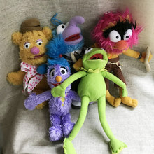 23-28cm NEW Cute Muppets Show Kermit Frog Gonzo Fozzie Bear Animal Drummer Soft Stuffed Plush Toy Doll Children Birthday Gift(China)