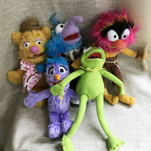 28cm NEW Cute Muppets Show Kermit Frog Gonzo Fozzie Bear Animal Drummer Soft Stuffed Plush Toy Doll Children Birthday Gift free shipping 45cm cartoon the muppets kermit frog plush toys soft boy doll for children birthday gift