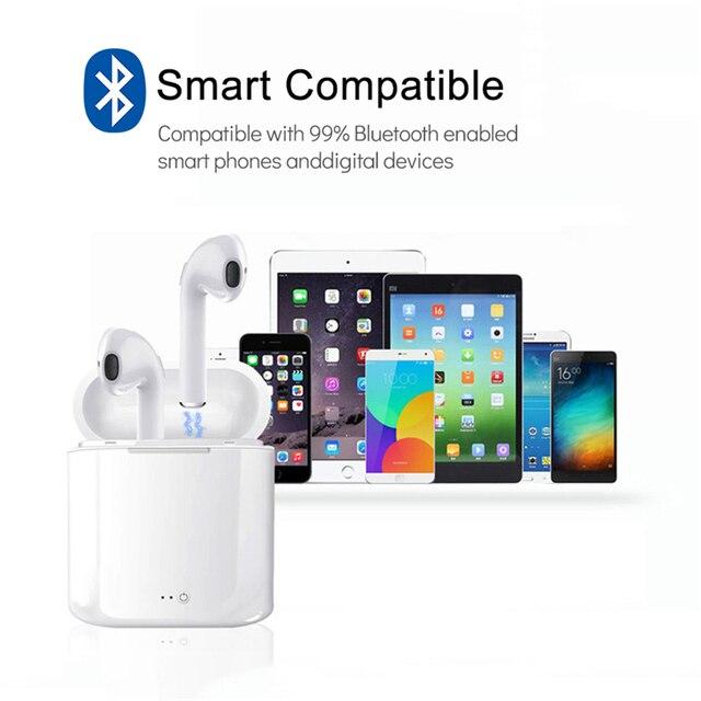 Earphones Briame i7s Tws Bluetooth Sport Handsfree Earphone Cordless Headset with Charging Box 5