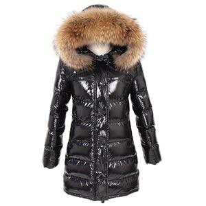 Image 2 - OFTBUY 2020 Winter Jacket Women Real Fur Coat natural Raccoon Fur Collar Long Parka Duck Down jacket waterproof Streetwear brand