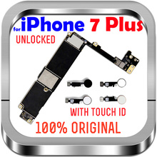 "Unlocked Factory For IPhone 7Plus With / Without Touch ID No iCloud Mainboard 100% Original For IPhone 7 Plus 5.5"" Motherboard"