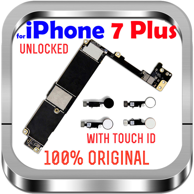 """Unlocked Factory For IPhone 7Plus With / Without Touch ID No iCloud Mainboard 100% Original For IPhone 7 Plus 5.5"""" Motherboard"""