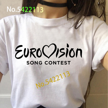 2020 Eurovision Song Contest  t shirt women Harajuku Fire Saga Lion Of Love T-Shirt Ulzzang The Story of white top Tee
