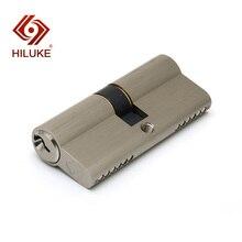 HILUKE 70mm European standard lock cylinder 3 pcs norml keys security door copper alloy lock core hardware DS70.3N kak entrance door lock cylinder brass copper core with 6 keys for home gate furniture hardware