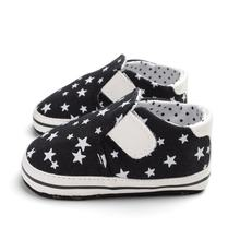 OUTAD NEW Fashion NEWborn Baby Shoes Infants Girls Boys Star Print Soft Sole Anti-slip Hook&Loop Shoes Baby Girls First Walkers(China)