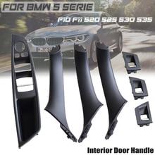Beige/Black Plastic ABS Car Inner Door Handle Panel Sedan Pull Trim Cover For BMW 5 Serie