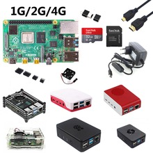 라즈베리 파이 4B 시작 키트, 라즈베리 파이 4B 1G/2G/4G + 32GB SD 카드 + ABS 케이스 + 5V 3A 전원 + 팬 + 방열판 + HDMI