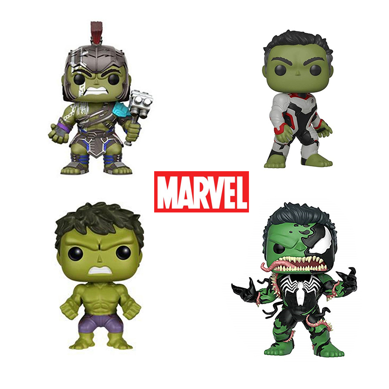 FUNKO POP Marvel The Avengers Super Hero Hulk PVC Action Figures Collectible Model Toys