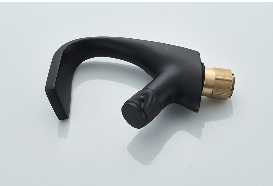 H70f68668e96e43da9a73a4cf8087fab5p Black Faucet Bathroom Sink Faucets Hot Cold Water Mixer Crane Deck Mounted Single Hole Bath Tap Chrome Finished ELM457