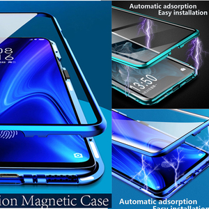 Image 5 - Metal Magnetic Phone Case For xiaomi mi 9t pro Double Sided Glass Cases On Xiami Xiomi 9 t 9tpro t9 k20 360 Funda Cases Fundas