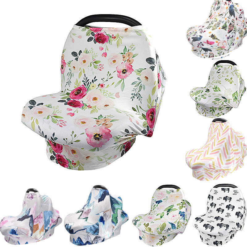 Baby shopping cart cover Breast feeding carseat canopy multi use stretchy Breastfeeding infant Grocery Trolley car seat cover(China)