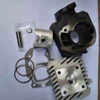 motorcycle cyinder kit pistion gasket head for PEUGEOT 50 PT LDX50 Peugeot 50 to 70CC 47MM cylinder group