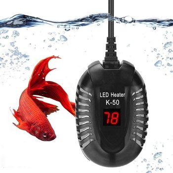Submersible Aquarium Heater with LED Display Fish Tank Digital Water Heating Rod Temperature Controller 25W/50W/75W/100W 1