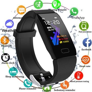 Fitness Tracker Smart Bracelet Blood Pressure Waterproof Fitness Bracelet Heart Rate Monitor Activity Tracker Smart Watch Men фото