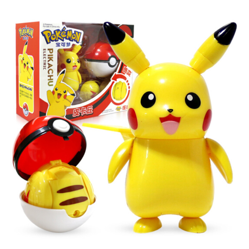 TOMY Pokemon Action Morphing Pokeballs Transformation Toys For Child PIKACHU Charizard Mewtwo Blastoise Venusaur Gyarados Toys