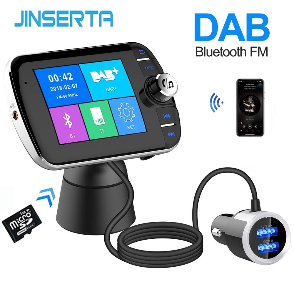 JINSERTA-receptor de Radio Digital DAB, sintonizador de Radio FM, adaptador transmisor Bluetooth 4,2 Con Radio para coche, sintonizador de Radio FM DAV/DAB