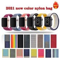 Correa de nailon para Apple Watch, banda de 44mm y 40mm para iWatch Series 6 Se 5 4 3 2, correas de reloj de 38mm y 42mm, accesorios de pulsera