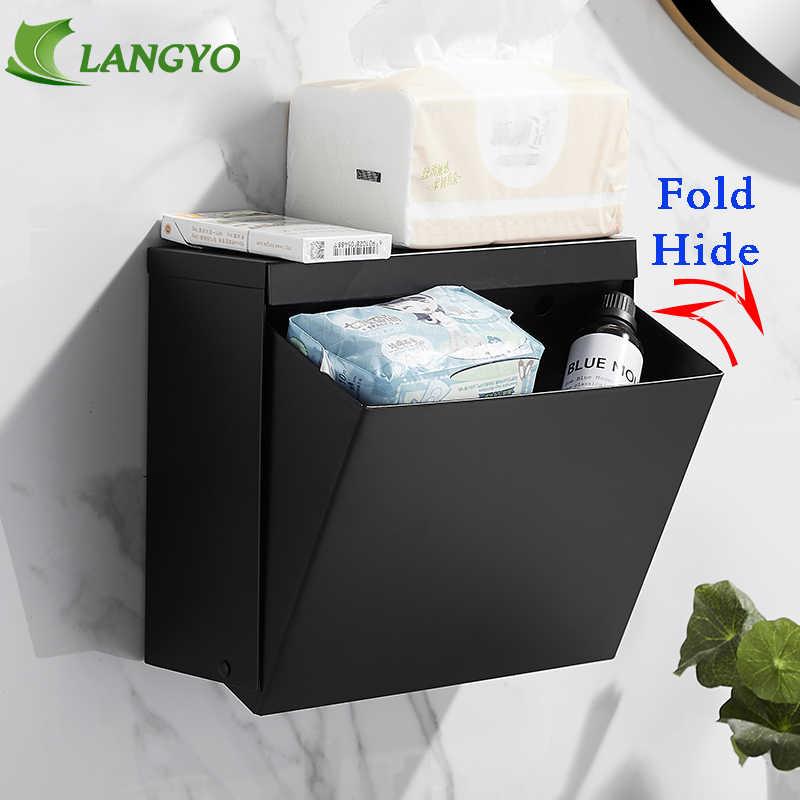 Черный настенный держатель для туалетной бумаги водонепроницаемый поднос трубка для хранилище для туалетной бумаги коробка для хранения бумаги поднос коробка для салфеток полка для ванной комнаты продукт