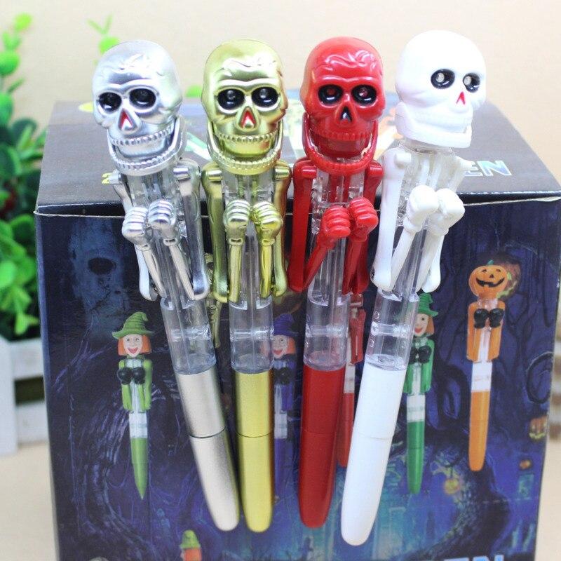 1pc Creative Bollpoint skull Pen Cranial Pens Halloween Festival Gift Cute pens 0.8mm School Office Supply Gift Stationery