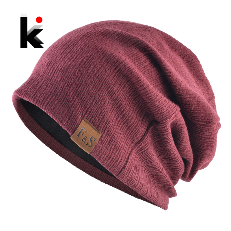 Fashion Unisex Beanie Knitted Flexible Hat For Women Spring Autumn Casual Soft Skullies Beanies Men Streetwear Hip Hop Bonnet
