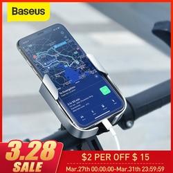 Baseus Motorcycle Holder 360 Degree Universal Bike Motorcycle Motorbike Handlebar Phone Holder Bracket For iPhone 11 XS XR