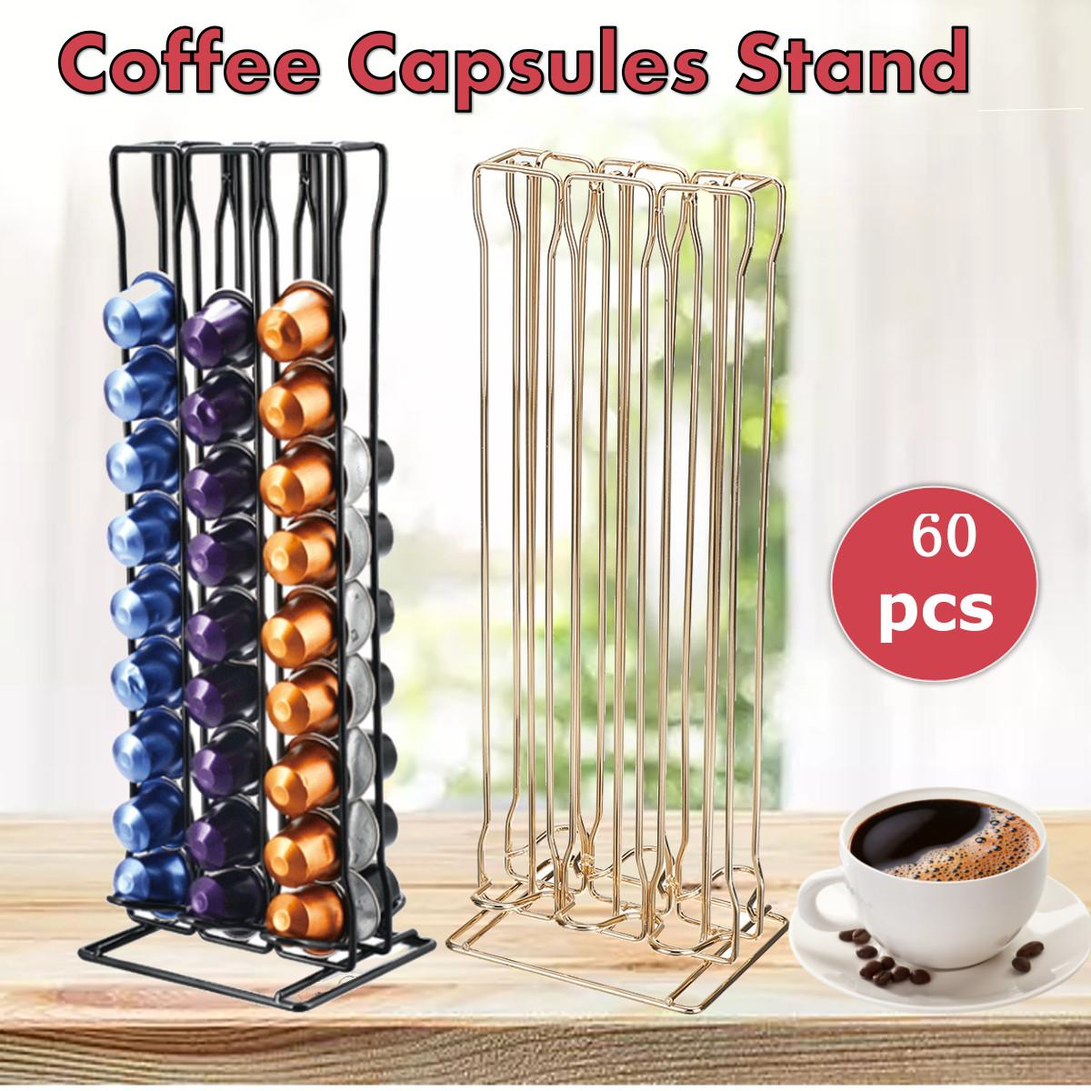 Practical Coffee Capsule Holder Stand For 60 Nespresso Capsules Storage Soporte Capsulas Nespresso Coffee Holder Metal Iron