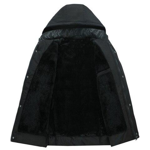 casacos de algodao quente com capuz dos