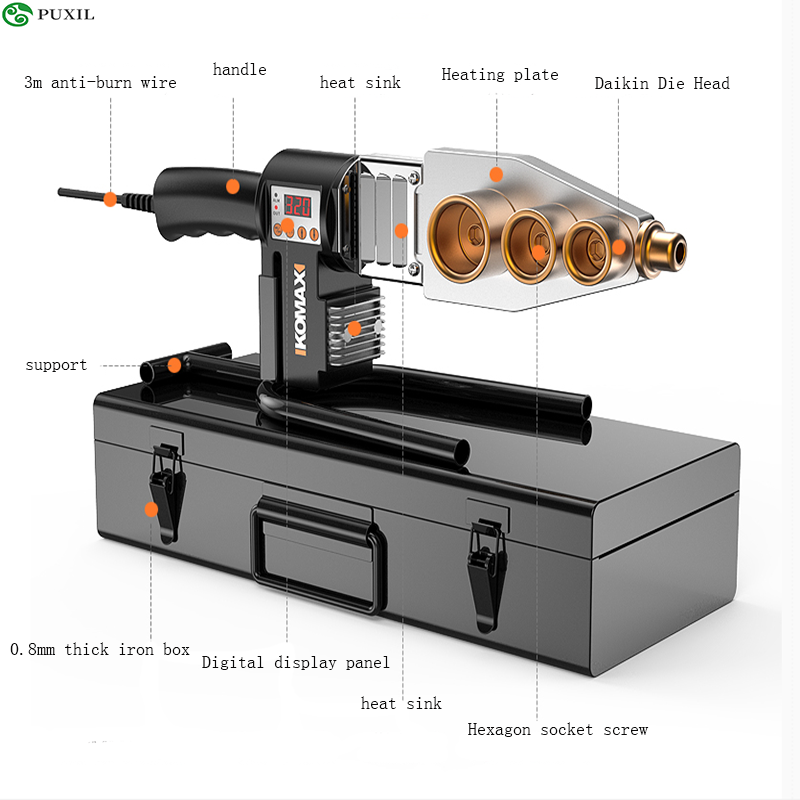 220V Household Pipe Melter PPR Welding Machine 63