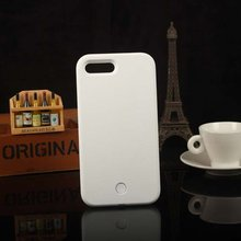 Luminous Phone Case For iPhone 6 6s 7 8 Plus X Perfect Selfie Light Up Glowing Cover for 5 5s SE Bag Durable