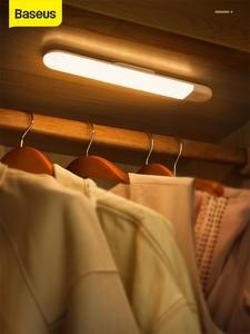 Wardrobe-Light Bed-Lamp Night-Light Under-Cabinet Baseus Rechargable USB LED for Closet-Stairs