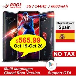 Оригинальный Смартфон Asus ROG 3 5G 6,59 дюйм. Snapdragon865/865 Plus 6000 мАч 144 Гц FHD + AMO