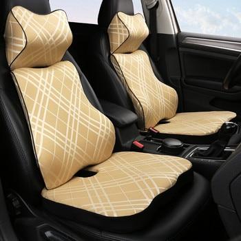 Автомобильный запоминающий хлопковый подголовник подушка для шеи поясная подушка для автомобиля Infiniti G G25 G35 G37 EX EX35 EX30 EX37 Q Q40 Q60 QX50 2014-2018