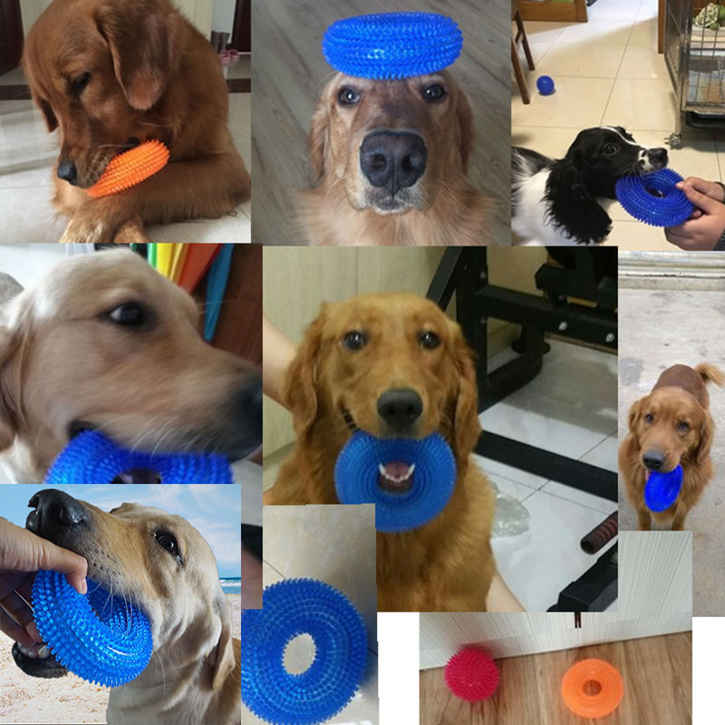 Dog Toys Squeaking Pet Toy Bite Resistant Toy Ball Large Dog Barbed TRP Dog Toy Clean Tooth Dog Toy Dog Toys For Large Dogs in Dog Toys from Home Garden