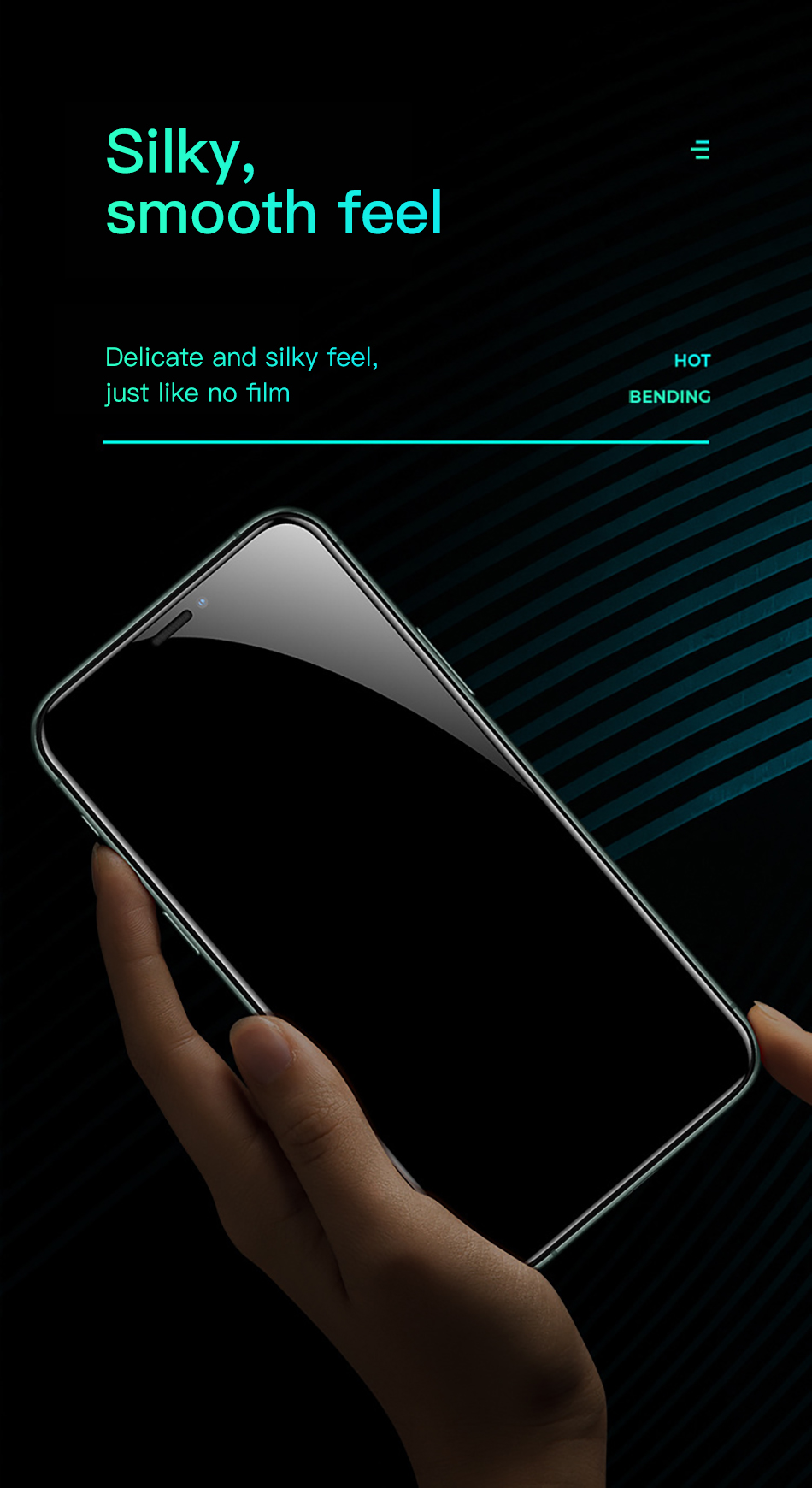 Benks XPRO 3D Curved Edge Screen protector Glass 0.3mm For iPhone 11 Pro MAX XR X XS Full Cover Protective Tempered Glass Film (9)