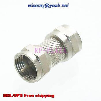 DHL/EMS 200pcs Adapter F TV male to F male straight RF COAXIAL with one year warranty -a4