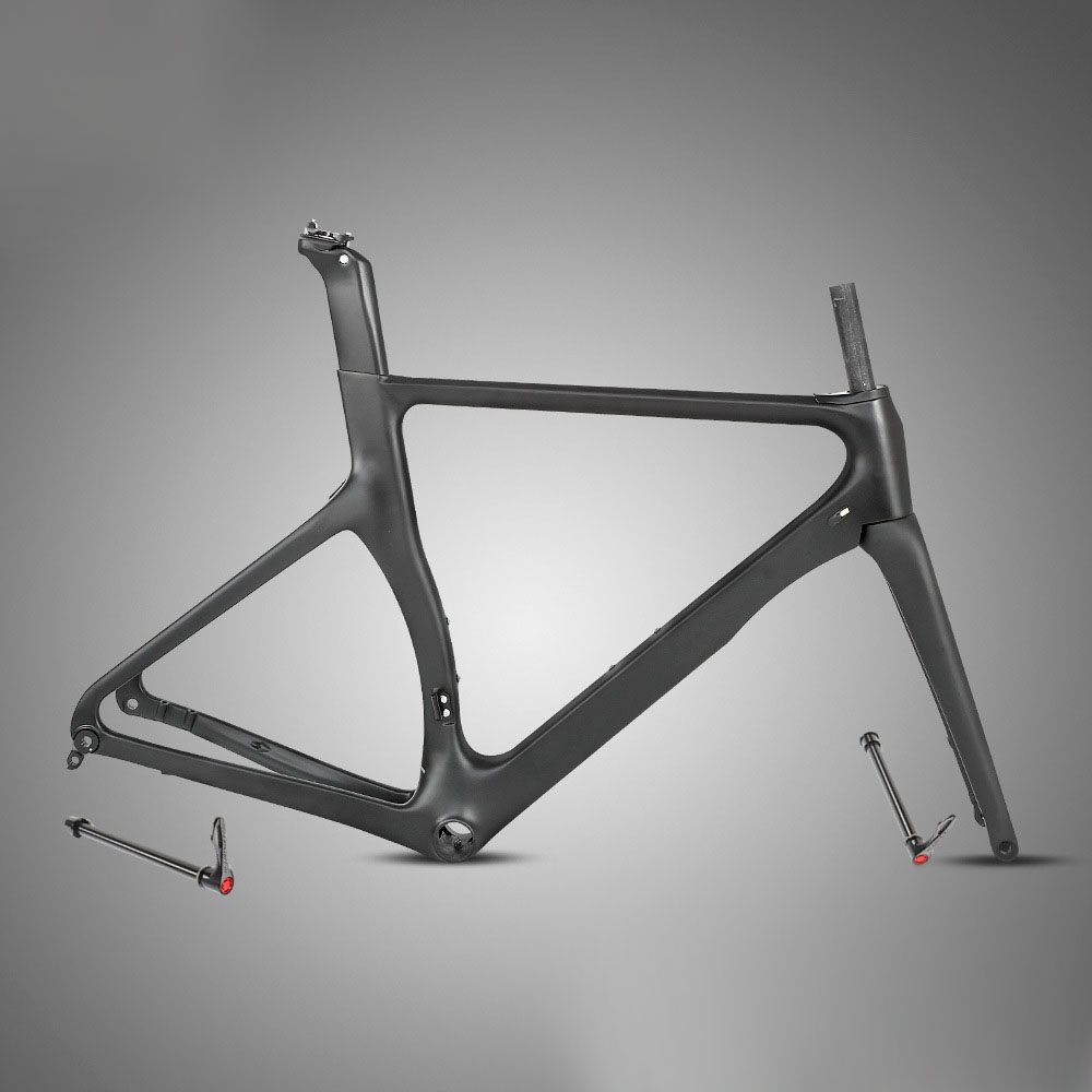 Twitter R3 700C Road Frame 18K Carbon Thru-axle Disc Brake Full Black Matte Gloss Road Bike Frame Pneumatic Broken Air Design
