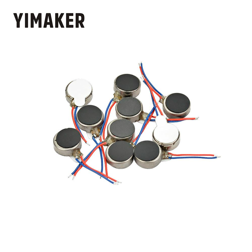 YIMAKER 10 pièces Micro 0834 Vibration Moteur bouton plat Moteur 08*34mm pour téléphone portable appareils ménagers moteurs vibrants