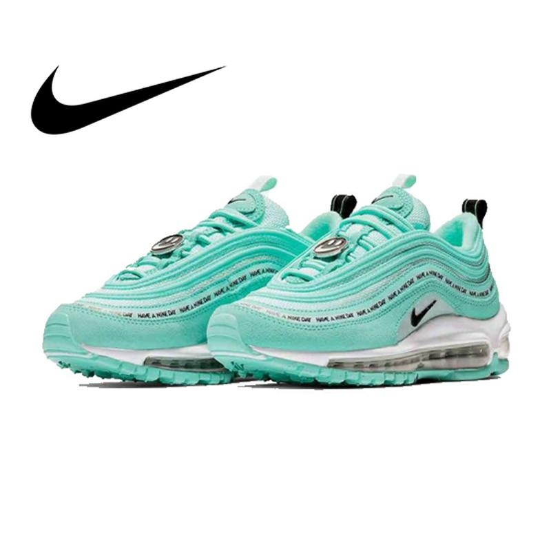 Original Authentic Nike Air Max 97 Women's Running Shoes Sports Outdoor Sneakers Shock Absorbing Designer Training AV3181-500