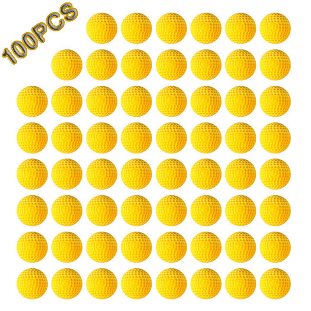 100pcs Yellow Bullets Ball For Nerf Rival Zeus Apollo Bullets Toys Gun Soft Round Darts For Nerf Rivals Gun Toy Children's Gift