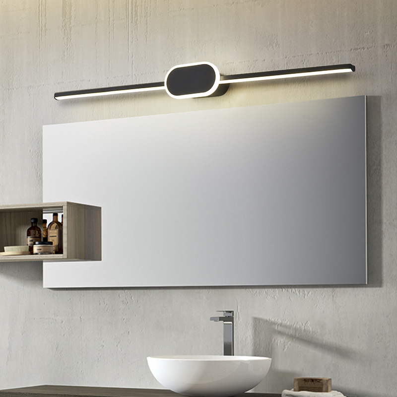 preto branco terminado moderno led espelho luzes 0 4 m 0 8 m lampada de parede