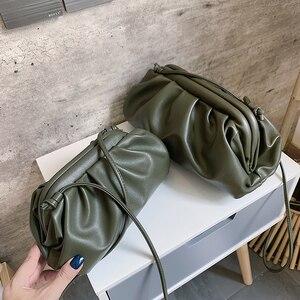 Image 2 - Einfarbig Elegante Umhängetaschen Für Frauen 2021 Kleine Kupplung Weibliche Partei Handtaschen und Geldbörsen Dame Schulter Einfache Tasche