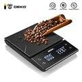 Цифровые весы для кофе DEKO, электронный прибор для взвешивания, светодиодный дисплей, высокая точность, с таймером, измерительные инструмент...