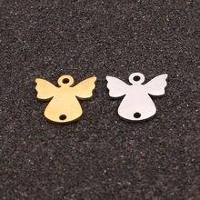 5 шт/лот нержавеющая сталь золотые крылья ангела соединители